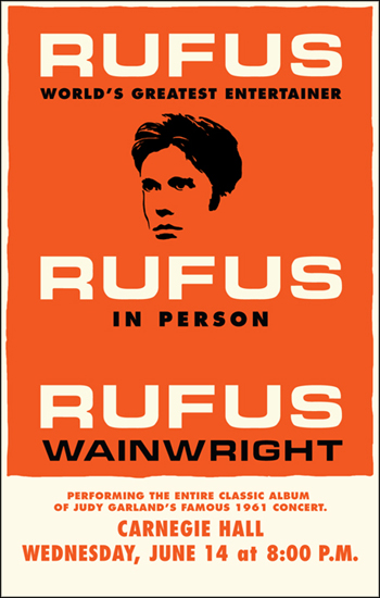 Rufus poster for Carnegie Hall