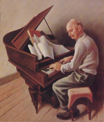 Carl Ruggles by Thomas Hart Benton