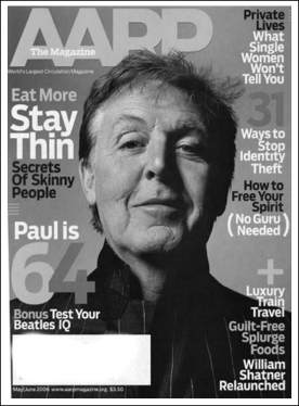 Sir Paul on cover of AARP