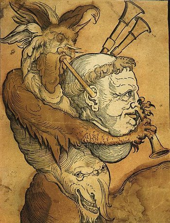 Erhard Schoen The Devil playing the Bagpipe c1530.jpg