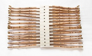 "C Major (2009) Recycled Antique Ivory Piano Keys 19 x 33 x 5""  © 2011 Penny Putnam and Shauna Holiman  BenisonStudios.com"
